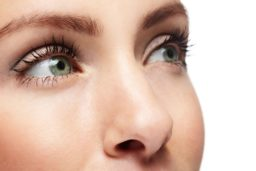 close up of women's eyes and nose